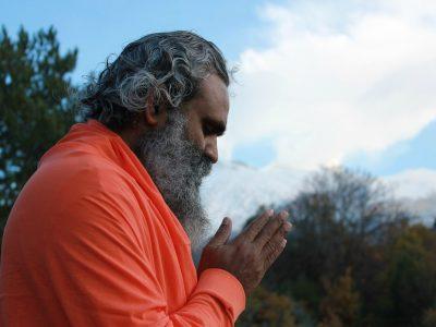 old man meditatting